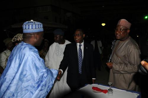 HMF-Olusegun-Aganga-in-a-handshake-with-the-Nigerian-Ambassador-to-Belgium-Amb.-Usman-Baraya