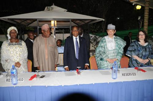 Members-of-the-high-table-rise-for-the-National-Anthem